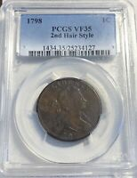 1798 DRAPED BUST LARGE CENT PCGS VF 35 2ND HAIRSTYLE