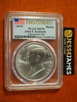 2015 JOHN F KENNEDY SILVER MEDAL PCGS MS70 FROM COIN & CHRONICLES SET FLAG FS