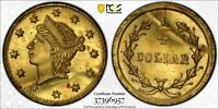 ND  PCGS UNCIRCULATED CALIFORNIA GOLD FRACTIONAL 25 CENTS B