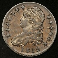 1812 CAPPED BUST HALF DOLLAR XF RICH ORIGINAL COLOR