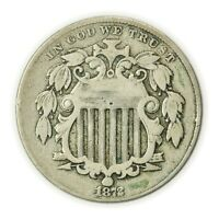 1872 SHIELD NICKEL, FIRST TYPE OF NICKEL, EARLY COIN [4174.375]