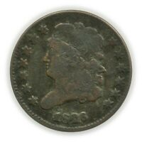 1826 CLASSIC HEAD HALF CENT, EARLY TYPE COIN [4174.560]