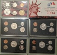 LOT OF 6 US MINT SILVER PROOF SETS
