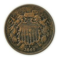 1869 TWO CENT PIECE, ODD DENOMINATION COIN [4174.367]