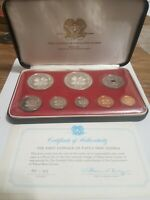 1975 FIRST COINAGE OF PAPUA NEW GUINEA PROOF SET FRANKLIN MI