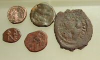LOT OF 5X  BYZANTINE AE COINS D 15330MM