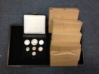 LOT OF 5   CANADA PROOF LIKE COIN SETS W/ BOXES: 1974 1980 P