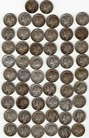 56 MERCURY DIMES CIRCULATED