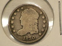 1830 US CAPPED BUST SILVER HALF DIME 9952