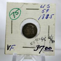 1835 US CAPPED BUST HALF DIME SMALL DATE & 5