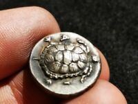 ANCIENT GREEK SILVER  COIN TORTOISE STATER AEGINA TURTLE