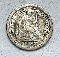 1857 O SEATED LIBERTY HALF DIME
