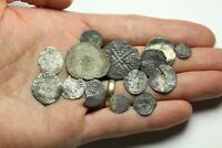 LOT OF 14 HAMMERED SILVER BRITISH COINS SOME BETTER SEE DESC