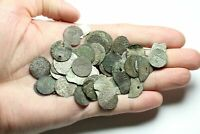 LOT OF 52 ASSORTED MEDIEVAL HAMMERED COINS LIVONIA POLAND ET