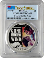 2019 P $1 TUVALU GONE WITH THE WIND 1OZ 9999 SILVER PROOF CO