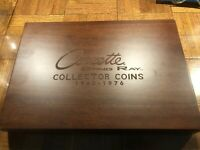 CORVETTE STING RAY COLLECTOR COINS WITH WOOD CASE & CERTIFIC