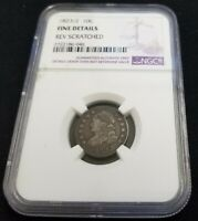 1823/2 10C CAPPED BUST SILVER DIME