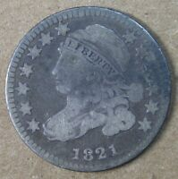 10C 1821 SMALL DATE CAPPED BUST DIME G-VG  AVENUECOIN
