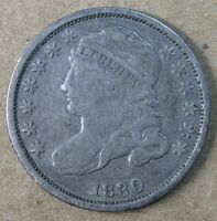 10C 1830 SMALL 10C CAPPED BUST DIME FINE  AVENUECOIN