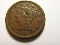 1851 BRAIDED HAIR CENT, LOOKS TO BE IN AU. CONDITION