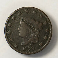 1828 CORONET HEAD 1C LARGE CENT  EARLY US COPPER LOTR126