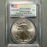 2015-W $1 SILVER EAGLE, PCGS MINT STATE 69, FIRST STRIKE 50617