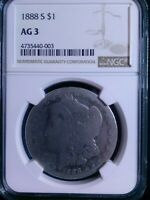 1888-S NGC AG 03  SILVER DOLLAR 90 LOW BALL REGISTRY COIN?