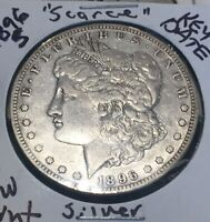 MAKE-ME-AN-OFFER 1896-S MORGAN SILVER DOLLAR  HARD DATE COLLECTABLE