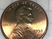 1992 D AND A 2000 LINCOLN MEMORIAL PENNY  2  COIN SET  SHIPS FREE