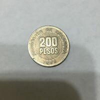 1995 COLOMBIA REPUBLICA 200 PESOS COIN