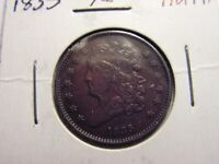 1835 CLASSIC HEAD HALF CENT, LOOKS TO BE IN AU CONDITION