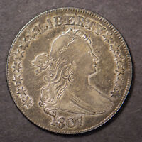 1807 DRAPED BUST 50C SILVER HALF DOLLAR  BEAUTIFUL W/ SOME LUSTER LOTB332