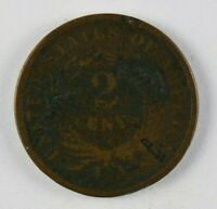 1866 TWO CENT PIECE - HIGHER GRADE COIN - 310