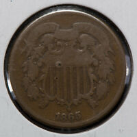 1865 2C TWO-CENT PIECE LOTM756