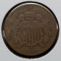 1869 2C TWO-CENT PIECE LOTM773