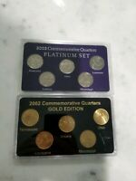 2002 COMMEMORATIVE QUARTERS GOLD/PLATINUM SETS AND MORE