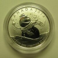 2014 SPECIMEN $20 FOR $20 14 SNOWMAN CANADA .9999 SILVER COIN ONLY TWENTY DOLLA