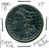 1880 O EXTRA FINE  MORGAN DOLLAR 100 CENT  EXTRA FINE 90  OLD SILVER US$1 COIN 901