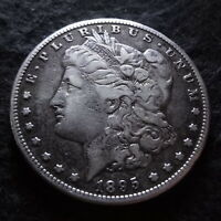 1895-S MORGAN SILVER DOLLAR - CHOICE FINE F DETAILS FROM THE SAN FRANCISCO MINT