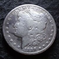 1888-S MORGAN SILVER DOLLAR - SOLID VG DETAILS KEY FROM THE SAN FRANCISCO MINT