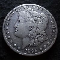 1895-S MORGAN SILVER DOLLAR - SOLID FINE F DETAILS FROM THE SAN FRANCISCO MINT