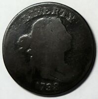 1798 DRAPED BUST LARGE CENT, SMALL 8, STYLE 1 HAIR S-162, R4, G