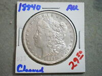 1884-O MORGAN SILVER DOLLAR/ CLEANED   --UNCERTIFIED--