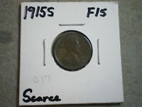 1915-S LINCOLN WHEAT CENT/   {}{UNCERTIFIED}{}--SHIPS FREE