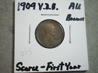1909 V.D.B. LINCOLN WHEAT CENT/ BROWN  {}{UNCERTIFIED}{}