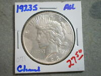 1923-S PEACE SILVER DOLLAR/ CLEANED   --UNCERTIFIED--