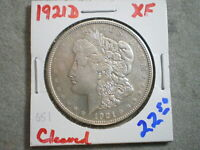 1921-D MORGAN SILVER DOLLAR/ CLEANING     -\UNCERTIFIED//-