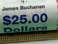 JAMES BUCHANAN PRESIDENTIAL DOLLAR COIN $25 ROLL - US MINT SEALED UNOPENNED