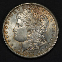 1904-O $1 MORGAN SILVER DOLLAR -  ORIGINAL ORANGE TONING - LOTM837