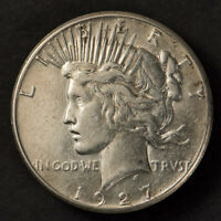 1927 $1 SILVER PEACE DOLLAR, BETTER DATE COIN LOTM902